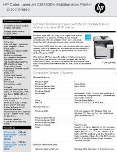 HP Color LaserJet CM3530fs Multifunction Printer Discontinued