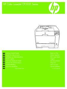 HP Color LaserJet CP2020 Series