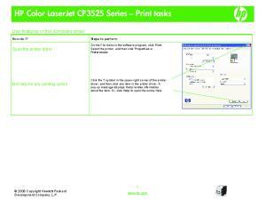 HP Color LaserJet CP3525 Series Print tasks