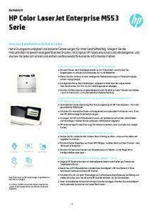 HP Color LaserJet Enterprise M553 Serie