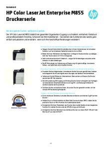 HP Color LaserJet Enterprise M855 Druckerserie