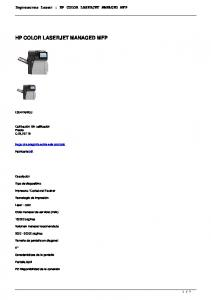 HP COLOR LASERJET MANAGED MFP