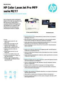 HP Color LaserJet Pro MFP serie M277