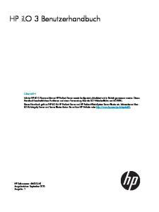 HP ilo 3 Benutzerhandbuch