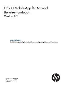 HP ilo Mobile-App für Android Benutzerhandbuch