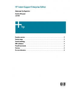 HP Instant Support Enterprise Edition