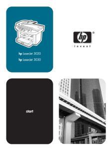 hp LaserJet 3020 all-in-one hp LaserJet 3030 all-in-one User Guide