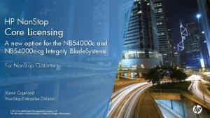 HP NonStop Core Licensing