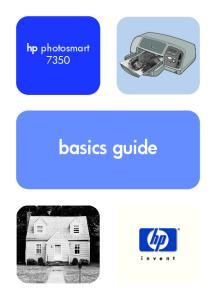 hp photosmart 7350 basics guide