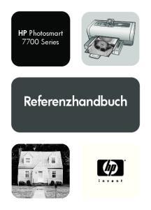 HP Photosmart 7700 Series. Referenzhandbuch