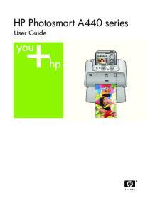 HP Photosmart A440 series User Guide