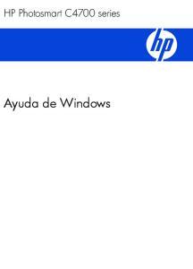 HP Photosmart C4700 series. Ayuda de Windows