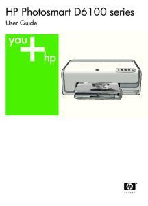 HP Photosmart D6100 series. User Guide