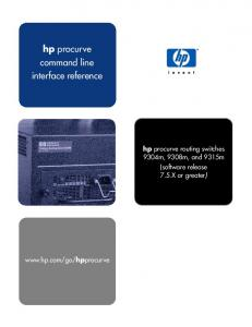 hp procurve command line interface reference