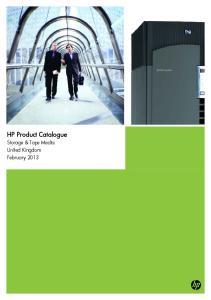 HP Product Catalogue Storage & Tape Media United Kingdom February 2013