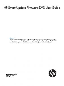 HP Smart Update Firmware DVD User Guide