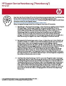 HP Support Service-Vereinbarung ( Vereinbarung )