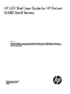HP UEFI Shell User Guide for HP ProLiant DL580 Gen8 Servers