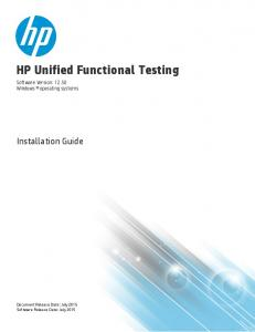 HP Unified Functional Testing
