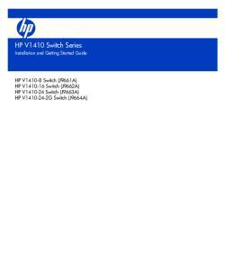 HP V1410 Switch Series
