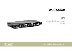 HP4 amplificador de auriculares. manual de instrucciones