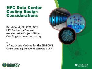 HPC Data Center Cooling Design Considerations