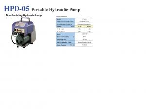 HPD-05 Portable Hydraulic Pump Double-Acting Hydraulic Pump