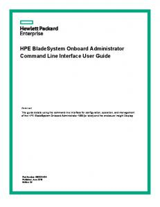 HPE BladeSystem Onboard Administrator Command Line Interface User Guide