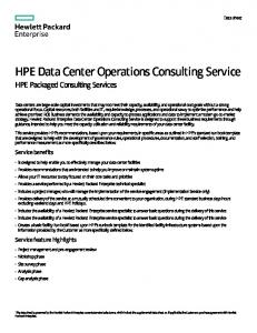 HPE Data Center Operations Consulting Service