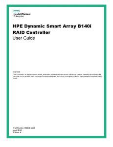 HPE Dynamic Smart Array B140i RAID Controller User Guide