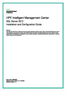 HPE Intelligent Management Center