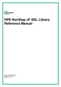 HPE NonStop cf SSL Library Reference Manual