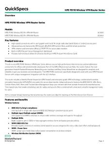 HPE PS110 Wireless n VPN WW Router
