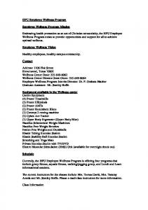 HPU Employee Wellness Program. Employee Wellness Program Mission