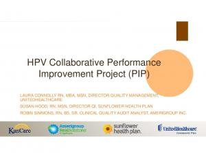 HPV Collaborative Performance Improvement Project (PIP)