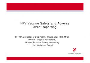 HPV Vaccine Safety and Adverse event reporting
