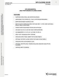 HPX MONUMENTAL HIGH PERFORMANCE SLIDING DOORS