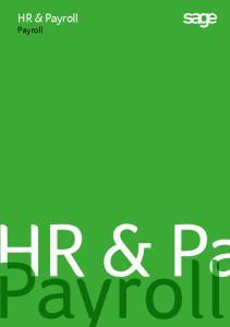 HR & Payroll. Payroll. ayroll