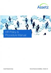 HR Policy & Procedure Manual