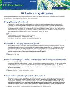 HR Stories told by HR Leaders