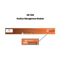 HR-TMS Position Management Module