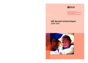 HRP Biennial Technical Report