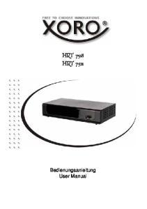 HRT 7518 HRT Bedienungsanleitung User Manual