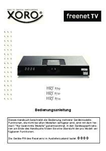 HRT 8719 HRT 8720 HRT Bedienungsanleitung