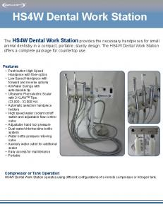 HS4W Dental Work Station