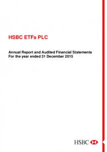 HSBC ETFs PLC. Annual Report and Audited Financial Statements For the year ended 31 December 2015