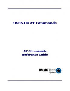 HSPA-H4 AT Commands. AT Commands Reference Guide