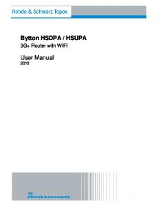 HSUPA. 3G+ Router with WIFI. User Manual