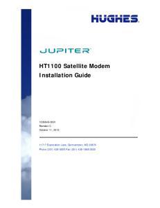 HT1100 Satellite Modem Installation Guide