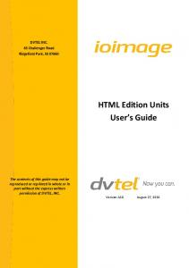 HTML Edition Units User s Guide